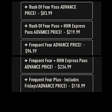 halloween horror nights hollywood prices hhn