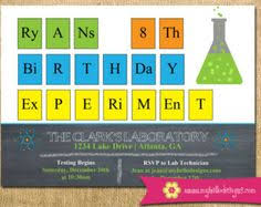 Periodic Table Test Printable Science Invitation Experiment Invite Diy Boy