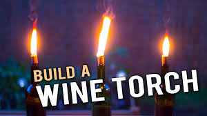 wine birthday candle diy tiki torch with wine bottles wine gazette