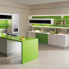 Sleek Modular Kitchen Designs by Kitchen Calm Grey Modular Kitchen Dual Refrigerator Round Dining