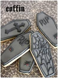 coffin shaped and decorated sugar cookies my halloween cookie