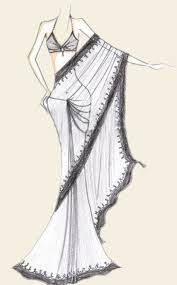 image result for saree sketch creative elements pinterest