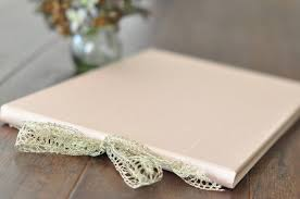 wedding guest book photo album silk lace wedding guest book for the sophisticate by blue sky