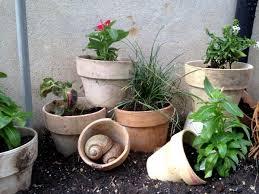Unique Plant Pots A Unique Flower Bed Made Of Clay Pots Hometalk