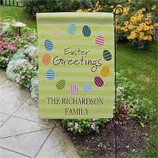 personalized easter eggs personalized easter egg garden flags easter gifts