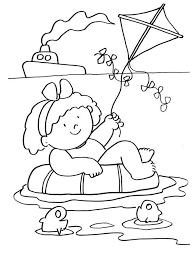 coloriage sur les vacances à la mer coloriages pour enfants