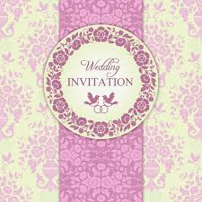 wedding invitations vector ornate pink floral wedding invitations vector 03 vector card