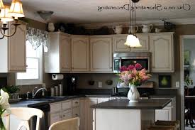 decorating ideas for kitchen cabinet tops kitchen above kitchen cabinet decor beautiful decorating above