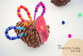 pinecone turkey craft for onecreativemommy