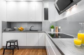 what are the best glass splashback colours for a white kitchen