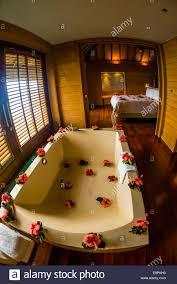 interior view of an overwater bungalow four seasons resort bora