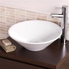 round sink bowl traditional rak cone cloakroom bathroom counter top basin sink