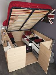 Diy Platform Bed With Storage by Diy Storage Beds U2022 The Budget Decorator