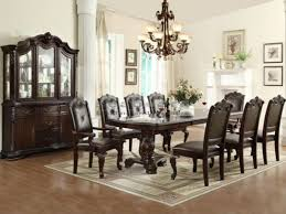 dining room pieces kiera traditional 9 pieces dining table set with leaf 21509p