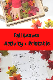 fall leaves word family activity free printable simply kinder
