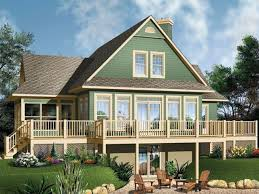 contemporary lakefront home planswaterfront log floor plans