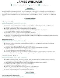 cosy resumes administrative for administrative assistant