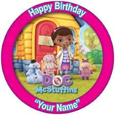 doc mcstuffins edible image buy baking bling personalised disney doc mcstuffins 7 5