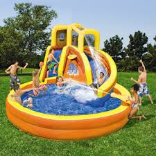 Backyard Inflatables Garden Design Garden Design With Pvc Pipe Water Park In The