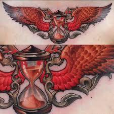 orange wings hourglass tattoo best tattoo ideas gallery
