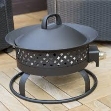 Smokeless Fire Pit by The Bond 18 5 In Portable Bronze Propane 50k Btu Campfire Fire