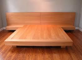 Platform King Bed Frames Bed Frames Zen Furniture Collection Japanese Style Solid Wood