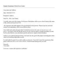 Bookkeeper Sample Resume Attendance Clerk Cover Letter