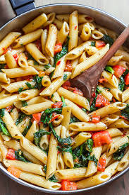Recipes With Pasta | shrimp pasta recipe with tomato and spinach eatwell101