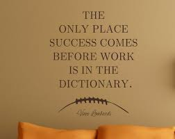 football quote work success vince lombardi vinyl wall decal man