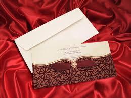 Invitation Cards For Muslim Wedding Maroon Velvet Finish Pocket Wedding Invitation Card Ba5464