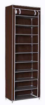 amazon shoe storage cabinet amazon com homebi 10 tier shoe rack 30 pairs shoe tower closet