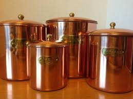 copper kitchen canister sets vintage solid copper kitchen canister set nib daewoo my vintage