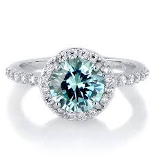 birthstone ring silvertone december blue cz imitation birthstone ring birthstone
