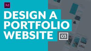 Desk Top Design Designing A Portfolio Website With Adobe Xd The Desktop Layout