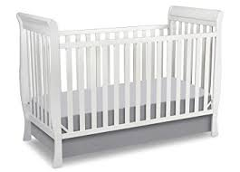 White Convertible Baby Crib Delta Children Glenwood 3 In 1 Convertible Sleigh