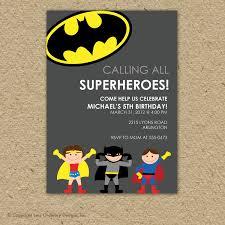 birthday invites stylish batman birthday invitations designs