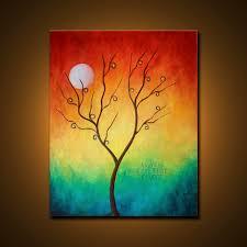 Paint Colorful - original oil painting colorful abstract landscape fine art