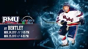 bentley college hockey rmu looks to continue success visiting bentley robert morris