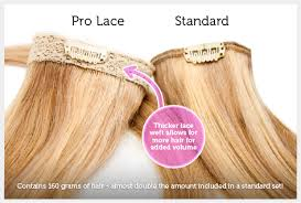 pro extensions pro lace 20 inch clip in lace weft remy