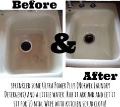 how do you clean a porcelain sink white porcelain sink before and after norwex pinterest