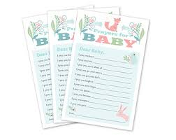 Baby Verses For Baby Shower - prayers baby game etsy