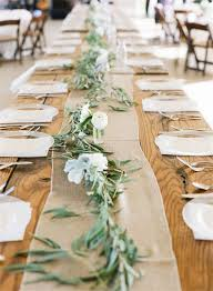 22 rustic burlap wedding table runner ideas you will