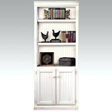 Bookcase With Doors White Slim Bookcase Oak With Doors Hrcouncil Info