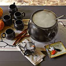 halloween cauldrons stoneware cauldron mugs and serving bowl the green head