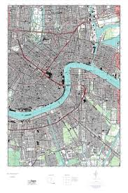 Map New Orleans by Mytopo New Orleans East Louisiana Usgs Quad Topo Map