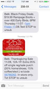 belk black friday deals mobile marketing strategy examples u2013 black friday tatango