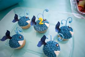 whale cupcakes unknown source blue animal whale cupcakes
