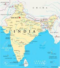 Nepal India Map by India Political Map With Capital New Delhi National Borders