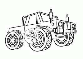 cool monster truck storm damage coloring page for kids