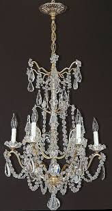 Rock Crystal Chandeliers Antique 6 Light French Gilt Brass And Crystal Chandelier From Tolw